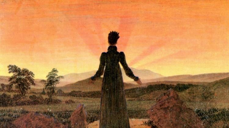 caspar_david_friedrich_woman_in_front_of_the_setting_sun_1818